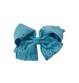 "Reflectionz Turqouise 6"" Lace Bow"