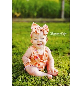 Flower Fox Pom Pom Romper & Headband