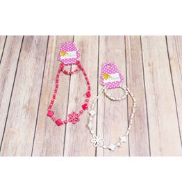 Lil Miss Accessories Cut Out Flower Necklace Set