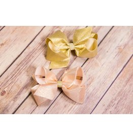 Wee Ones Medium Gold Overlay Bow