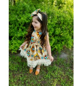 Tan Indian Fringe Dress