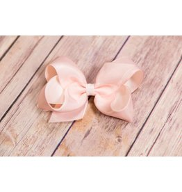 Wee Ones Medium Dusty Rose Shimmer Overlay Bow