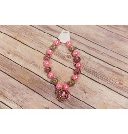 Pink Jewel Minnie Mouse Chunky Necklace