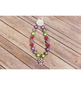 Sugar Skull Chunky Necklace