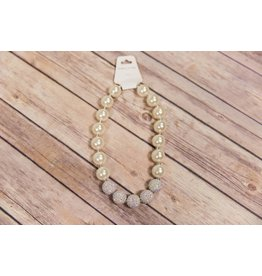 Pearl and Disco Diamond Chunky Necklace