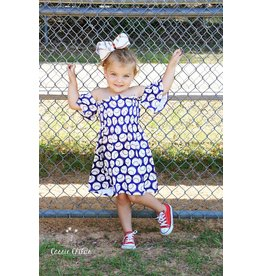 Cold Shoulder Baseball Dress