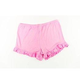 Paper Flower Pink Ruffle Shorts