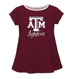 Vive La Fete Texas AM Solid Maroon Laurie Shirt
