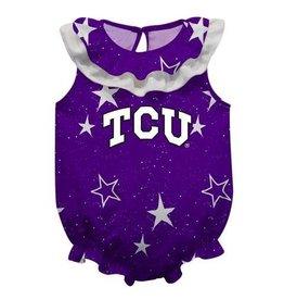 Vive La Fete TCU Stars Purple Girls Onesie