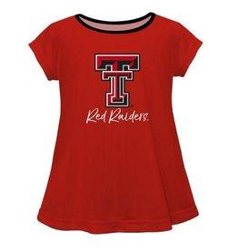 Vive La Fete Texas Tech Solid Red Laurie Shirt