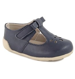 Baby Deer Navy Mary Janes