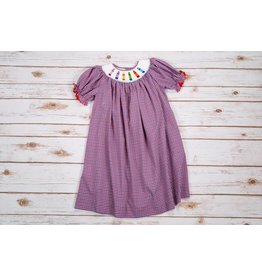 Mom & Me Crayon Smoked Bishop Dress