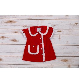 Three Sisters Red Cord/Lace Emily Dress
