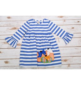 Three Sisters Happy Fall Applique Dress