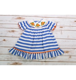 Three Sisters Pumpkin Patch Smocked Bishop Dress