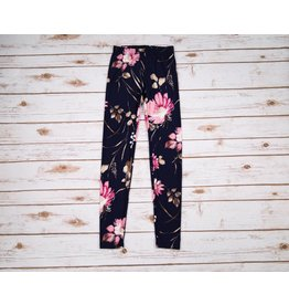 PP LA Navy Blue with Pastel Pink Flowers