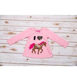 Haven Girl I Love Horses Swing Top