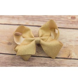 Wee Ones Medium Light Gold Grosgrain Dazzle Bow