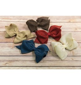 Wee Ones Mini King Burlap Bow