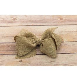 Wee Ones King Size Tan Burlap Bow