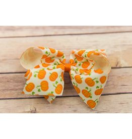 Wee Ones King Harvest Pumpkin Bow