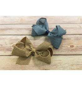 Wee Ones Medium Faux Linen Bow