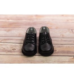 Baby Deer Black Lace Up Oxford Shoes