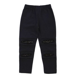 Kapital K Black Ripped Sequin Leggings