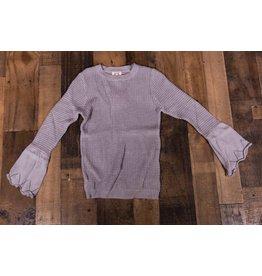 PP LA Grey Crochet Sweater