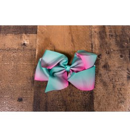 Pink and Teal Ombre Bow