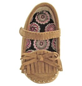Baby Deer Brown Suede Moccasin Slipper
