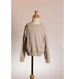 MLKids Lace Sleeve Grey Sweatshirt