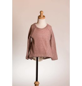 MLKids Lace Bow Back Sweater Top