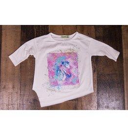 Little Mass Space Girls Galaxy Graphic Tunic