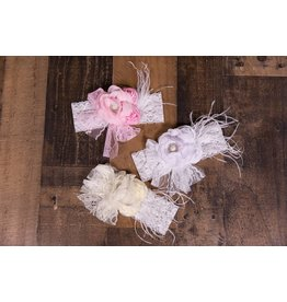 Laced and Feathered Floral Headband