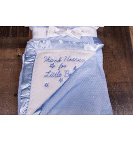 Little Me Thank Heaven for Little Boys Plush Blanket