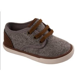 Baby Deer Grey Wool and Leather Sneaker
