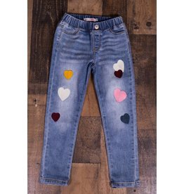 Mae Li Rose Heart Patch Jeans