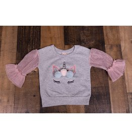Calla Lily Unicorn Pom Pom Sweater