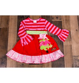 Millie Jay Christmas Tree Applique Bell Sleeve Dress