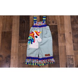 Millie Jay Unicorn Applique Jay Romper