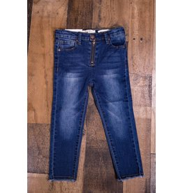 Jessica Simpson Denim Blue Jeans with Frayed Cuff