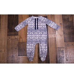Jessica Simpson Baby Blue And White Printed Footie