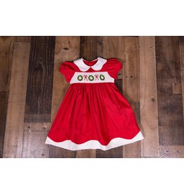 Mom & Me Wreath and Candy Cane Smock Dress