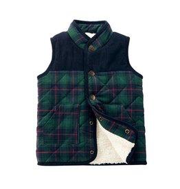 a10e40c6646 Mud Pie Blackwash Plaid Sherpa Vest