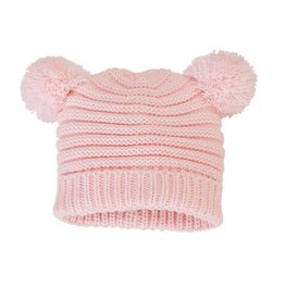 Mud Pie Pink Cable Knit Hat