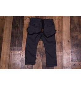 Me + Henry Navy Woven Pants With Suspenders