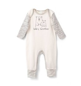 Tesa Babe Ivory and Stripes Baby Bear Romper