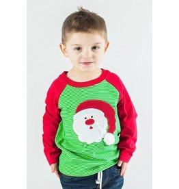 Be Mine Red And Green Striped Santa Raglan
