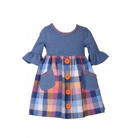 Bonnie Jean Plaid Stripe Dress